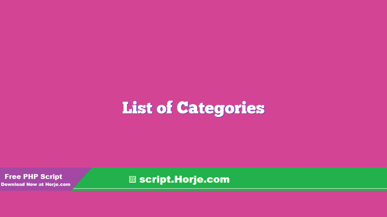 List of Categories