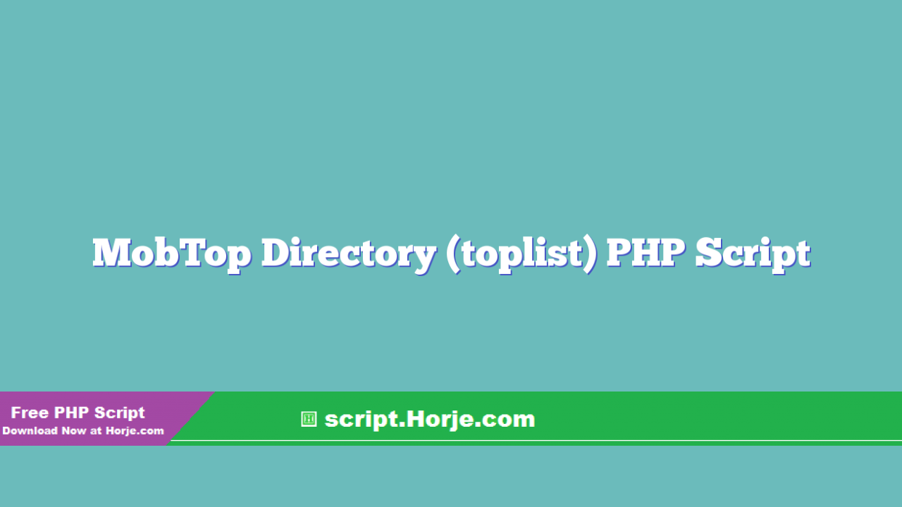 MobTop Directory (toplist) PHP Script