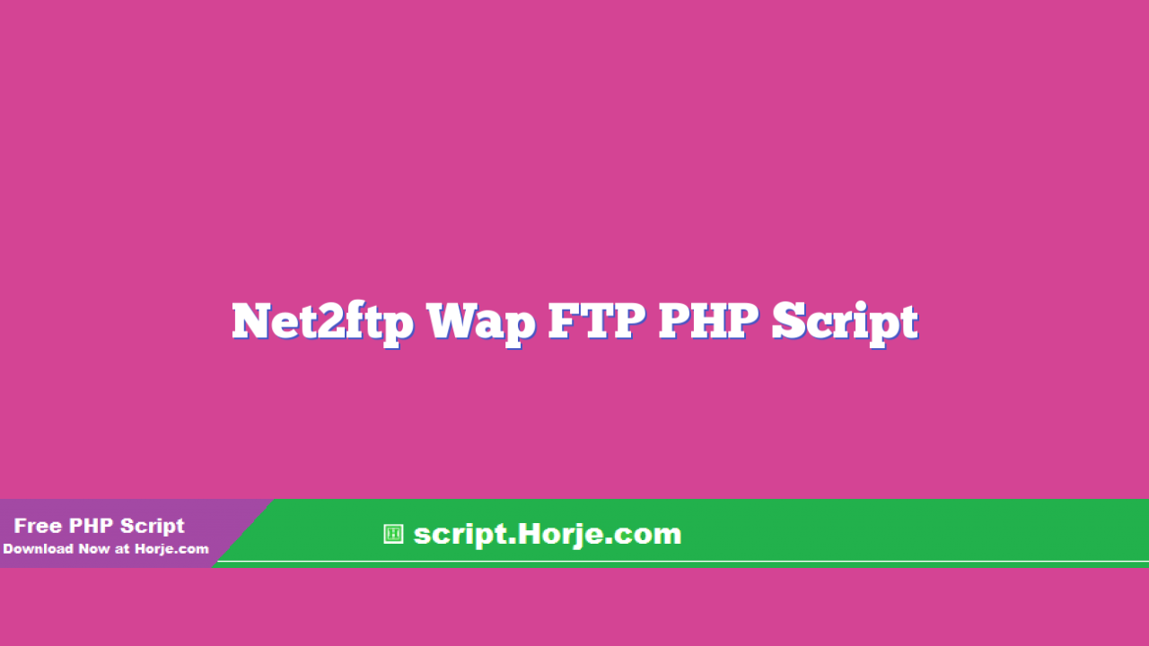 Net2ftp Wap FTP PHP Script