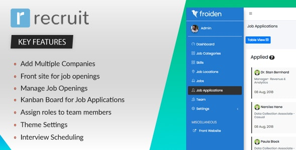Recruit v2.2.0 – Recruitment Manager – nulled PHP Script
