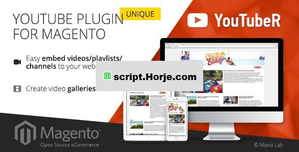 YouTubeR v2.0.4 – unique YouTube video gallery for Magento PHP Script