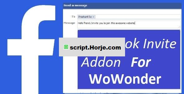 Facebook Invite Addon For WoWonder PHP Script