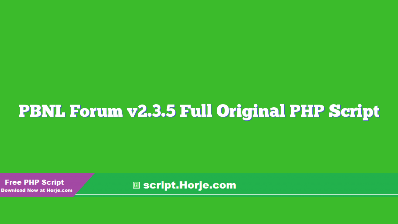 PBNL Forum v2.3.5 Full Original PHP Script