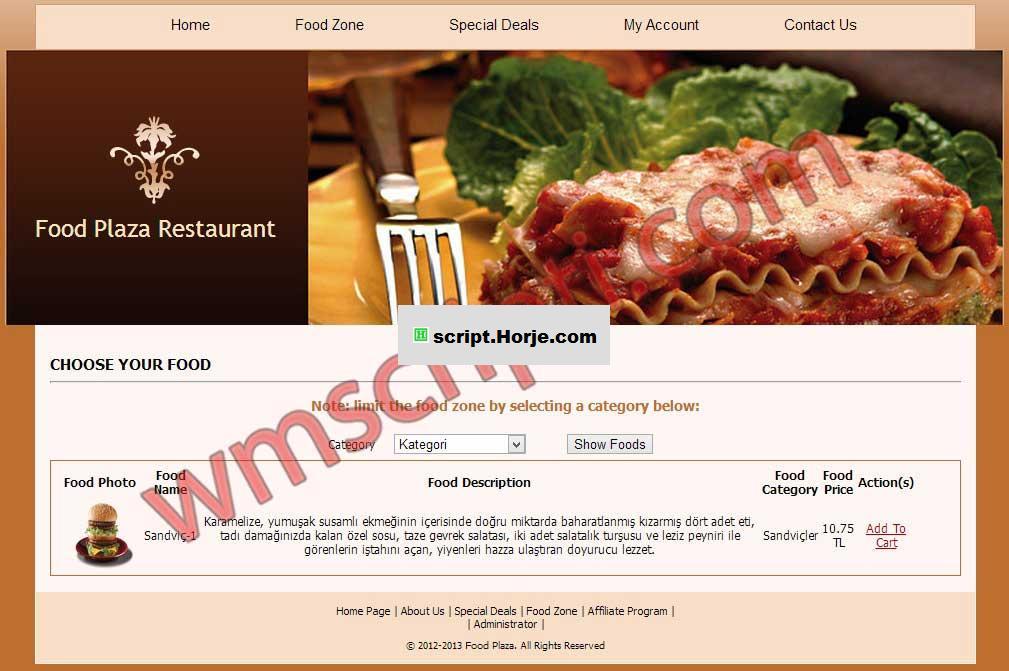 Pizzenna Restaurant Script (Beta 3) PHP Script