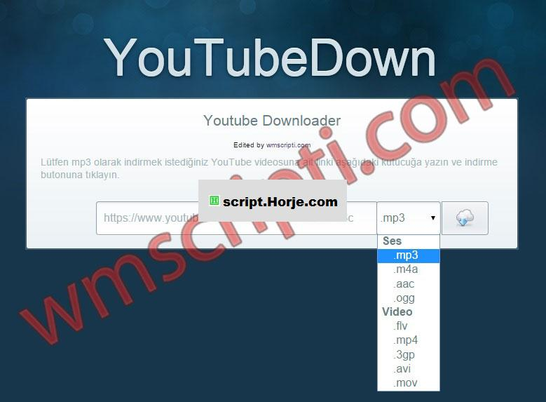 YouTubeDown Youtube Download PHP Script