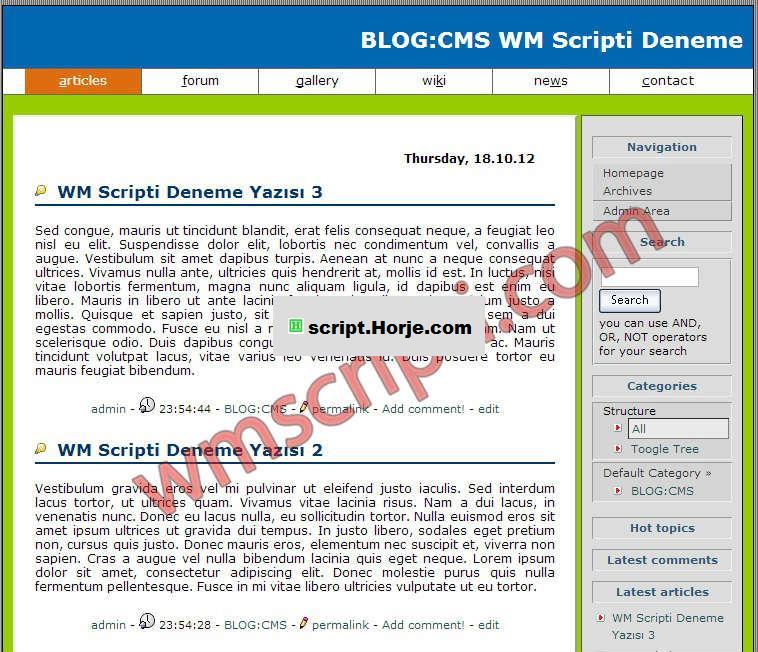 BLOG: CMC v.2.1 Blog PHP Script
