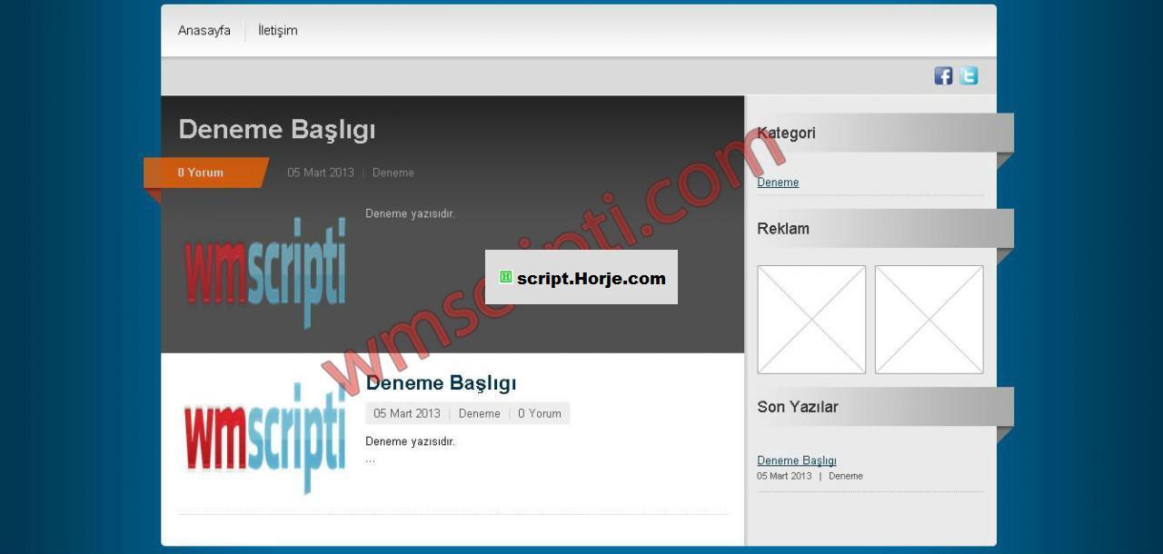 Colorful Blog PHP Script