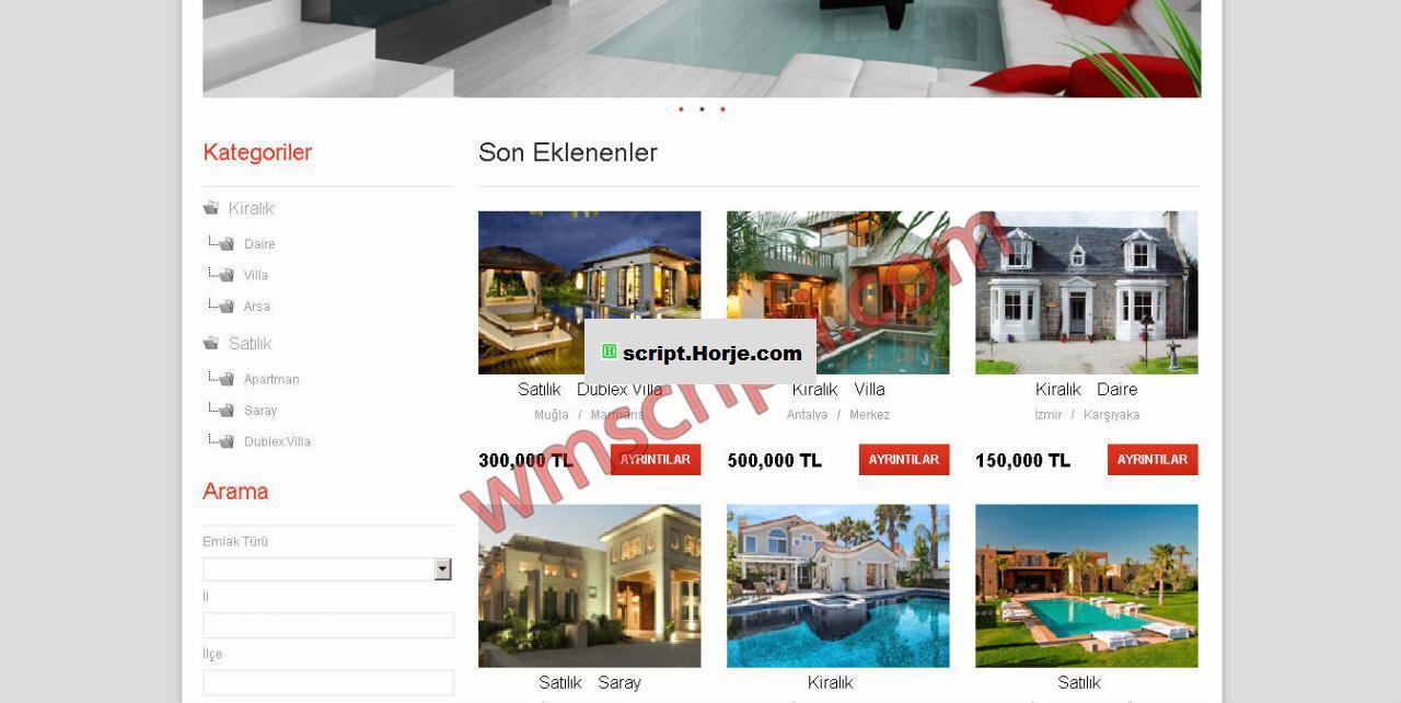 Real Estate Site PHP Script