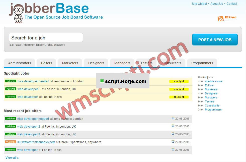 Jobber Base v2.0 Career PHP Script