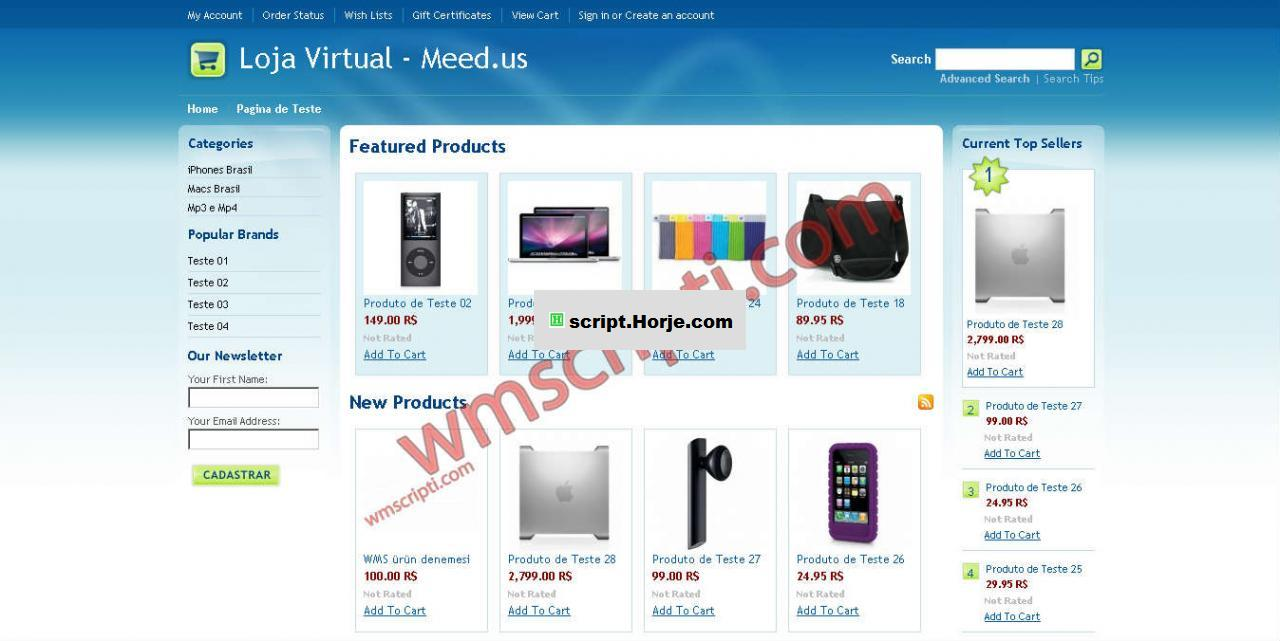 Professional Shopping PHP Script