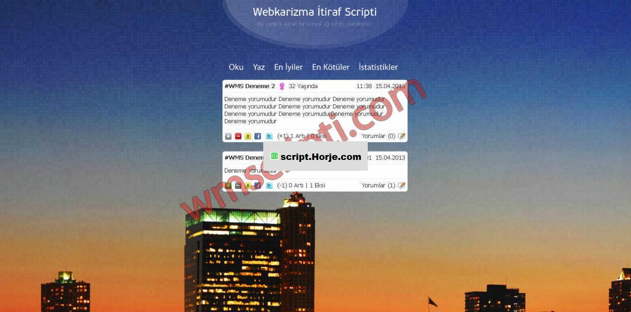 Webkarizm Gossip and Confession PHP Script