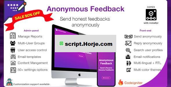 Anonymous Feedback v2.10.2 – Get honest feedback PHP Script