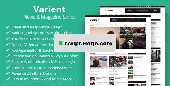 Varient v1.6.3 – News & Magazine Script – nulled PHP Script