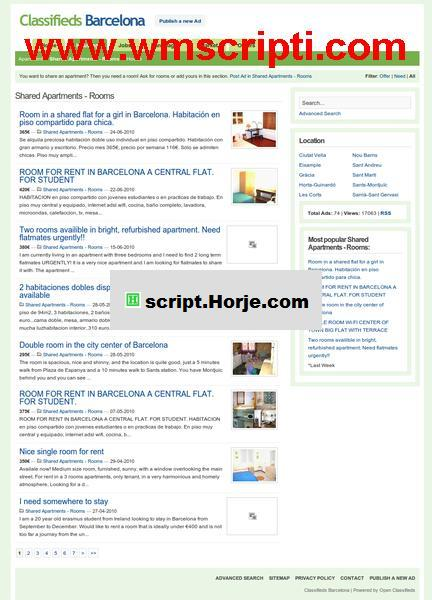 Open Classifieds v1.7.5 Ad PHP Script