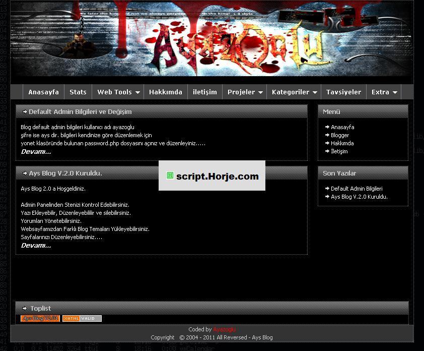 Ays Blog v3.0 PHP Script