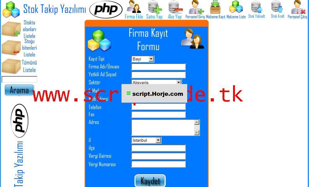 Stock Tracking v2.0 PHP Script