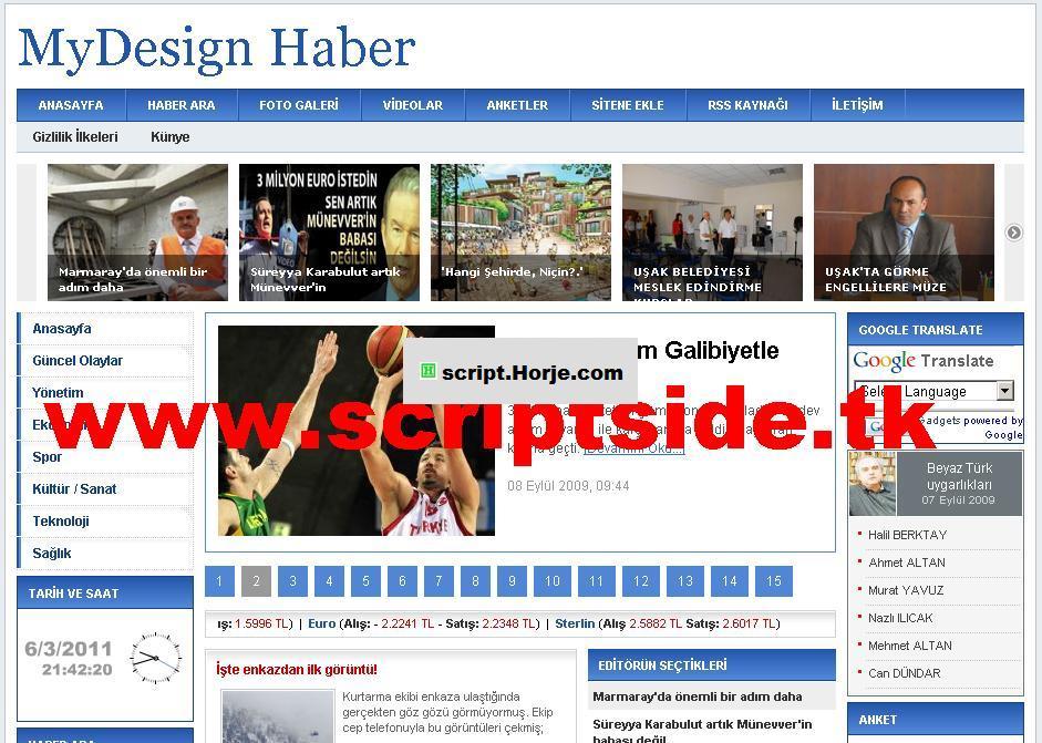 MyDesign v7 News PHP Script