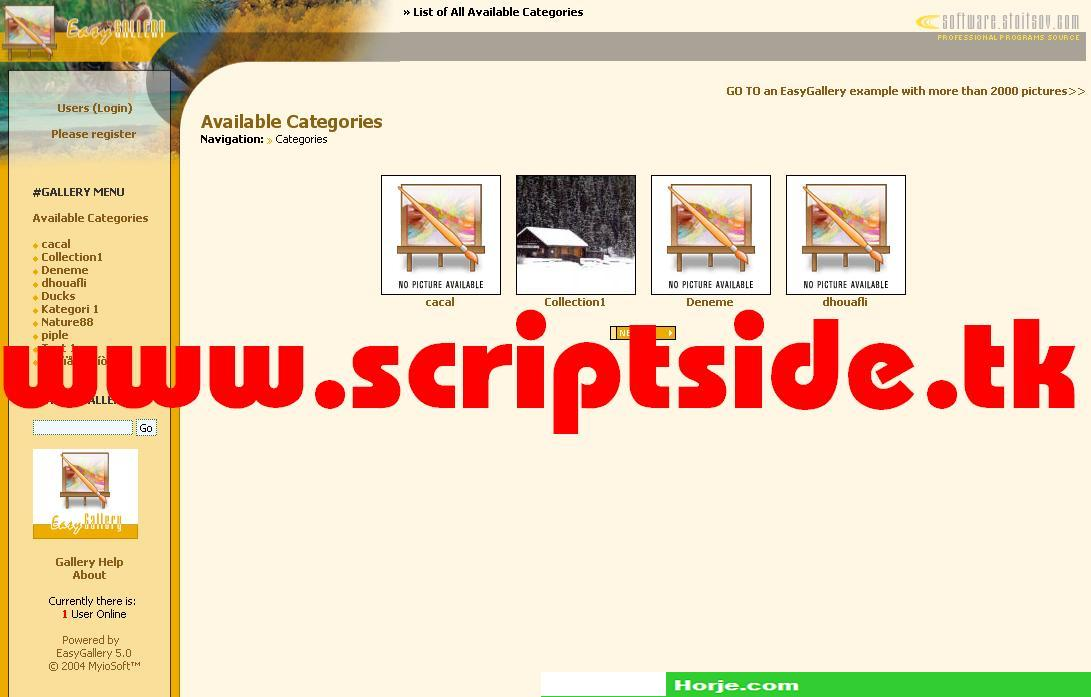 Myio EasyGallery v5.0 Image Gallery PHP Script