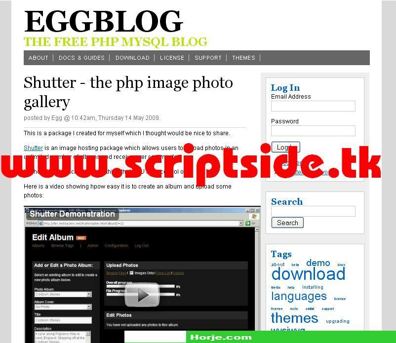 eggblog v.1.2 Blog PHP Script