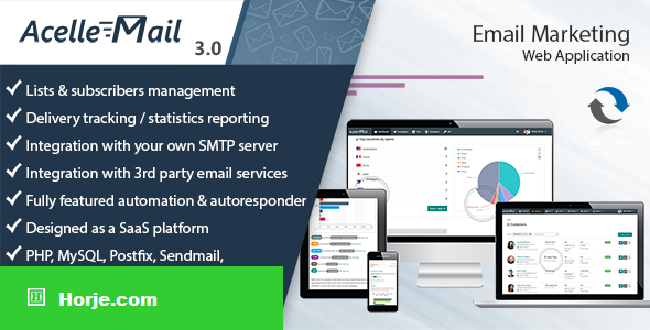 Acelle Email Marketing Web Application v4.0.18 – nulled PHP Script