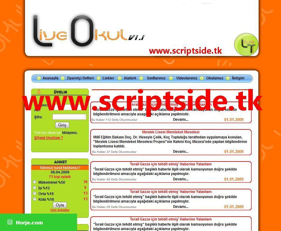 Live School v1.1 Portal PHP Script