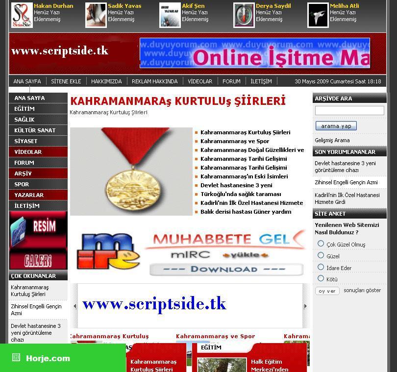 Niziphaber News PHP Script