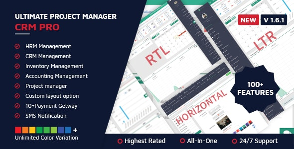 Ultimate Project Manager CRM PRO v1.6.1 – nulled PHP Script Download