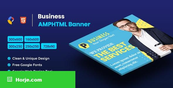 Business AMPHTML Banners Ads Template V04 PHP Script