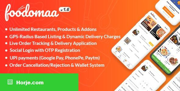 Foodomaa v1.7.1 – Multi-restaurant Food Ordering, Restaurant Management and Delivery Application – nulled PHP Script