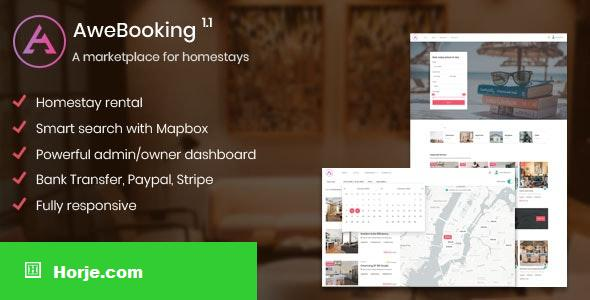 AweBooking v1.1 – A marketplace for homestays PHP Script