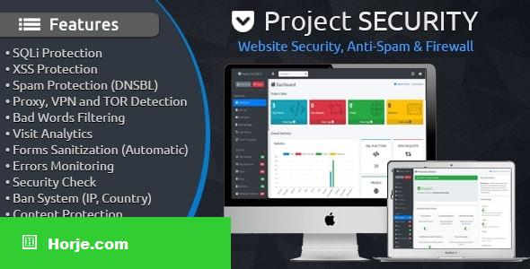 Project SECURITY v4.1 – Website Security, Anti-Spam & Firewall PHP Script