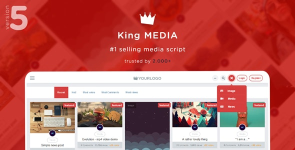 King Media v5.2 – Viral Magazine News Video – nulled PHP Script