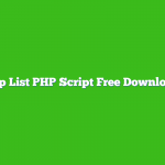 Top List PHP Script Free Download