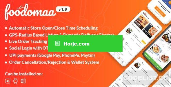 Foodomaa v1.9 – Multi-restaurant Food Ordering, Restaurant Management and Delivery Application PHP Script