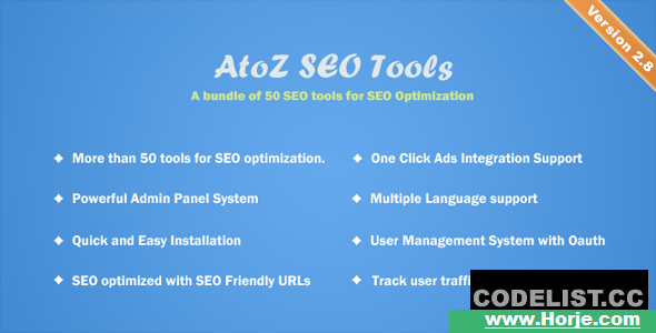 AtoZ SEO Tools v2.8 – Search Engine Optimization Tools – nulled PHP Script