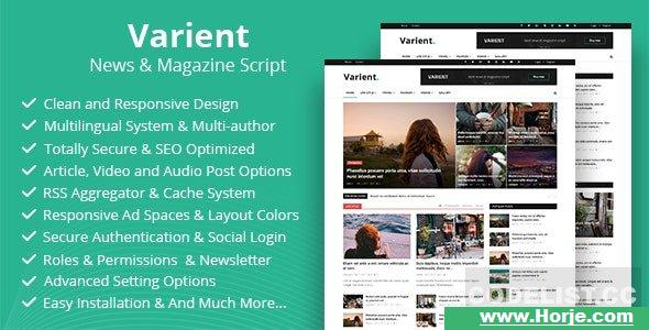 Varient v1.7 – News & Magazine Script – nulled PHP Script