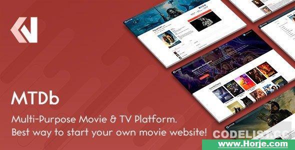 MTDb v3.2.1 – Ultimate Movie & TV Database PHP Script