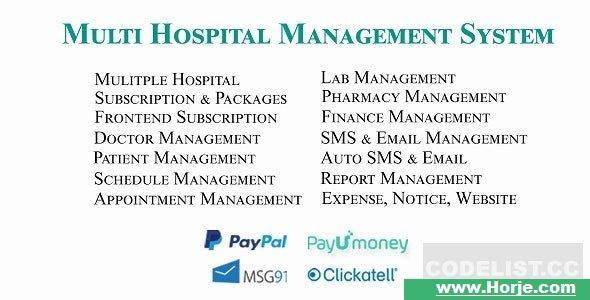 Multi Hospital v4.1 – Hospital Management System (Saas App) PHP Script