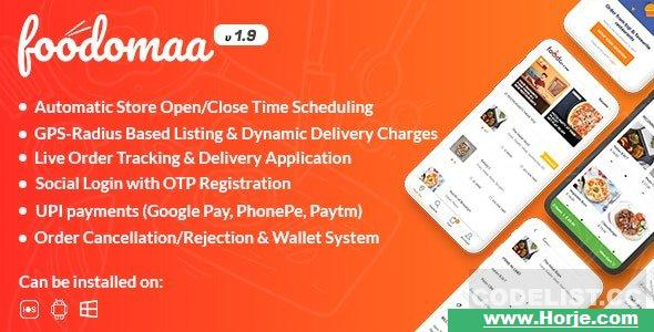 Foodomaa v1.9.8 – Multi-restaurant Food Ordering, Restaurant Management and Delivery Application – nulled PHP Script