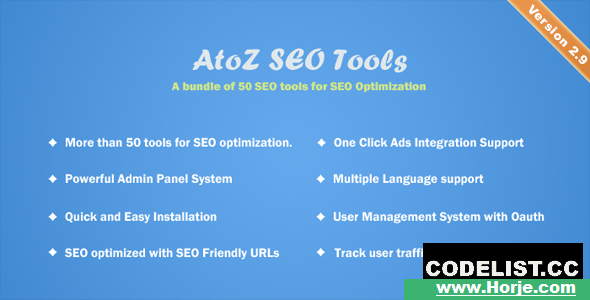 AtoZ SEO Tools v2.9 – Search Engine Optimization Tools – nulled PHP Script