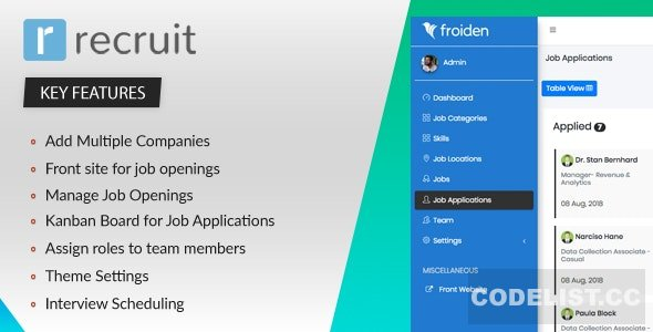 Recruit v2.2.3 – Recruitment Manager – nulled PHP Script