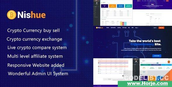 Nishue v3.8 – CryptoCurrency Buy Sell Exchange and Lending with MLM System – nulled PHP Script