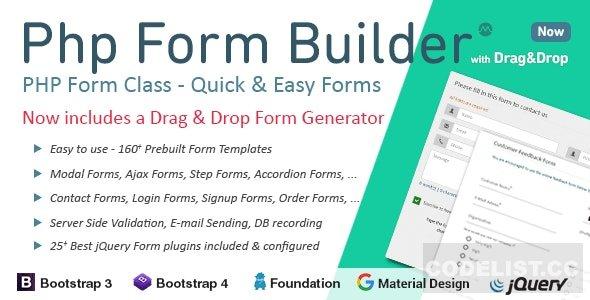 PHP Form Builder v4.5.0 PHP Script