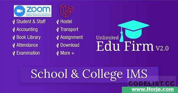 Unlimited Edu Firm School & College Information Management System v2.0 PHP Script