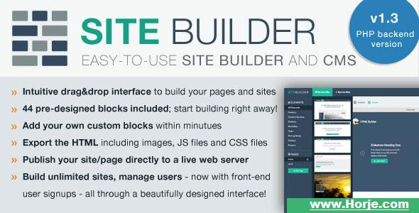 SiteBuilder Lite – Drag&Drop site builder and CMS PHP Script – Download Nulled