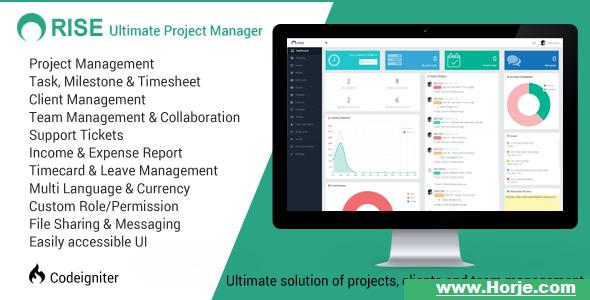 RISE v1.1 – Ultimate Project Manager PHP Script – Download Nulled