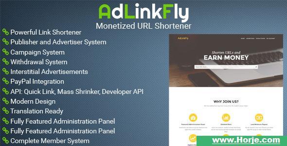 AdLinkFly v2.5.1 – Monetized URL Shortener PHP Script – Download Nulled