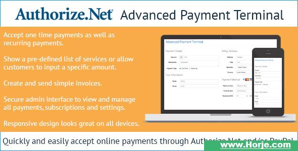 Authorize Net Advanced Payment Terminal Php Script Download Nulled Horje