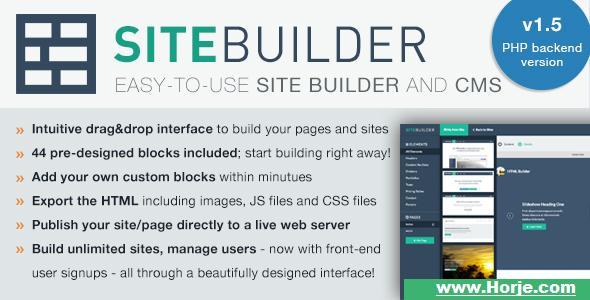 SiteBuilder Lite v1.5 – Drag&Drop site builder and CMS PHP Script – Download Nulled