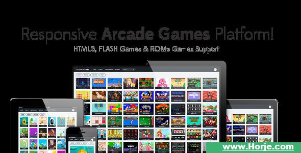 Responsive HTML5, Flash Games & ROMs Games Platform – Arcade Game Script v1.2.1 PHP Script – Download Nulled